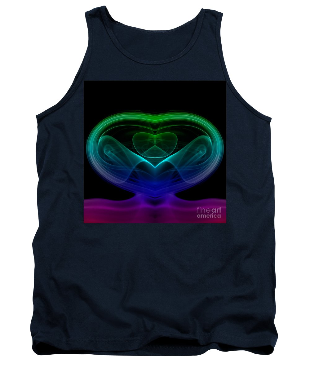 Abstract Tank Top featuring the photograph smoke XIX by Joerg Lingnau