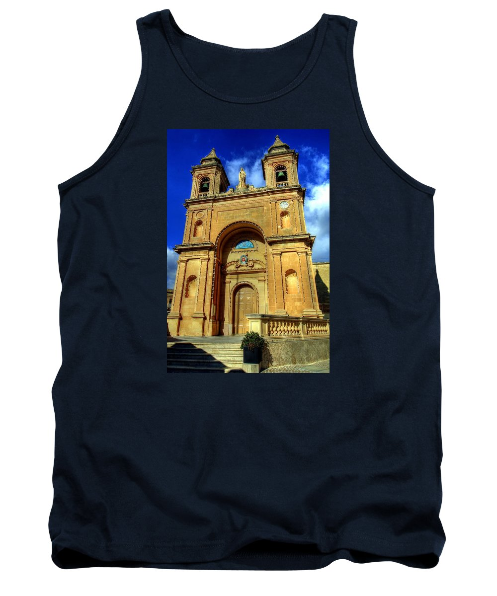 Valletta Tank Top featuring the photograph Valletta, Malta by Paul James Bannerman