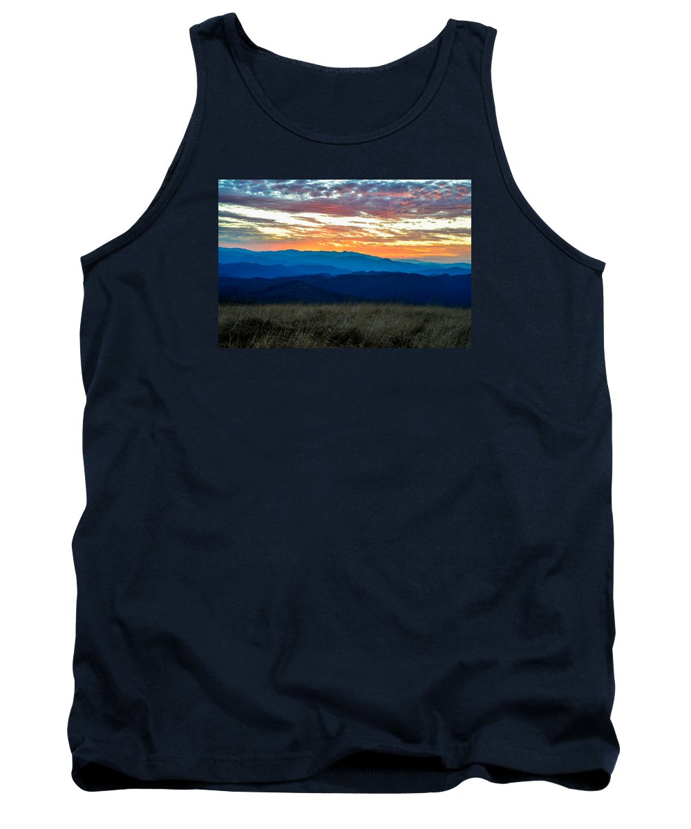 Blue Ridge Mountains Tank Top featuring the photograph Bald Mountain Sunset by Ryan Phillips
