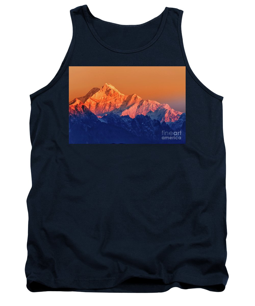 Alpine Tank Top featuring the photograph Sunrise On Mount Kanchenjugha At Dawn Sikkim by Rudra Narayan Mitra