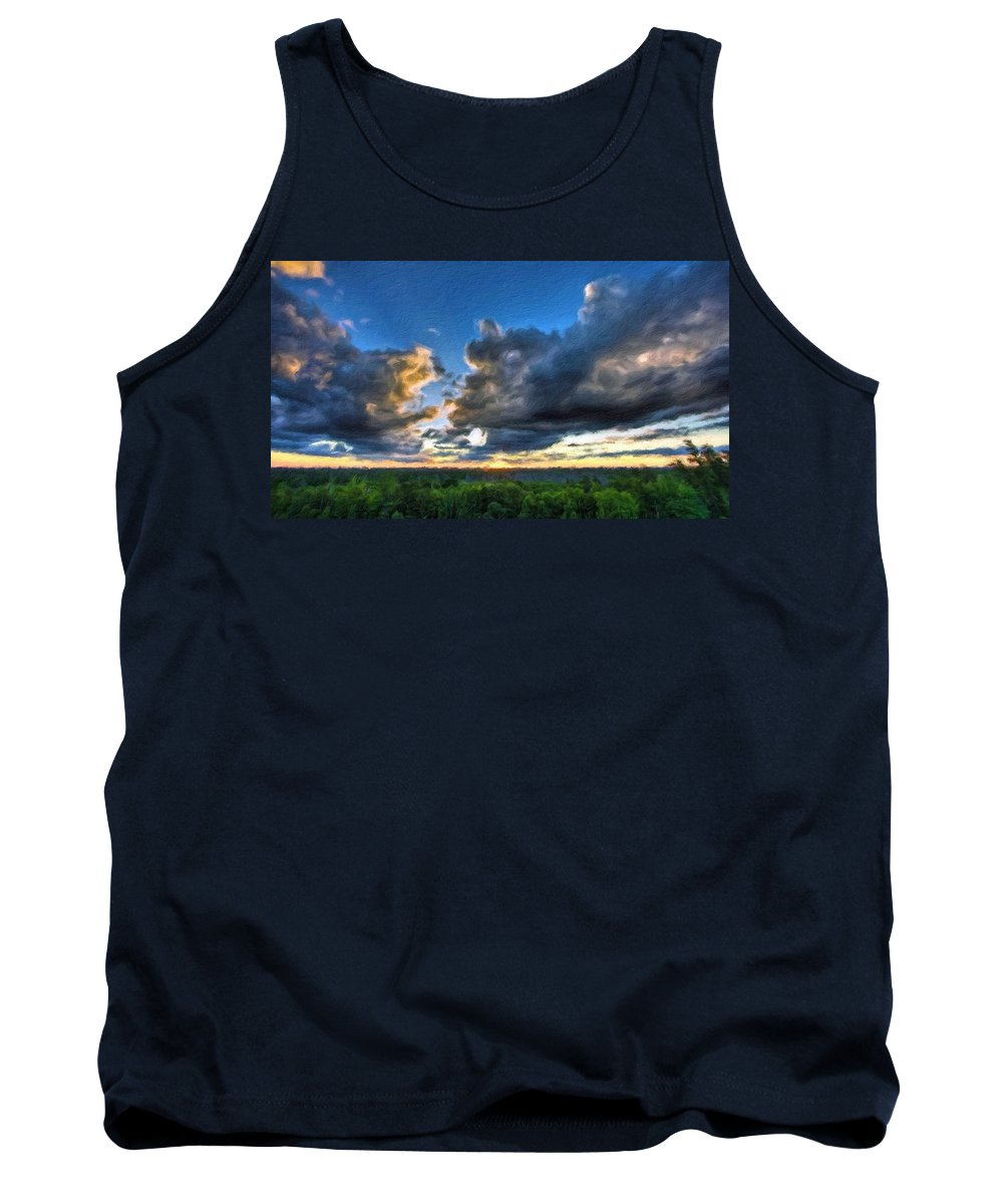 In Tank Top featuring the digital art Landscape Nature by Usa Map