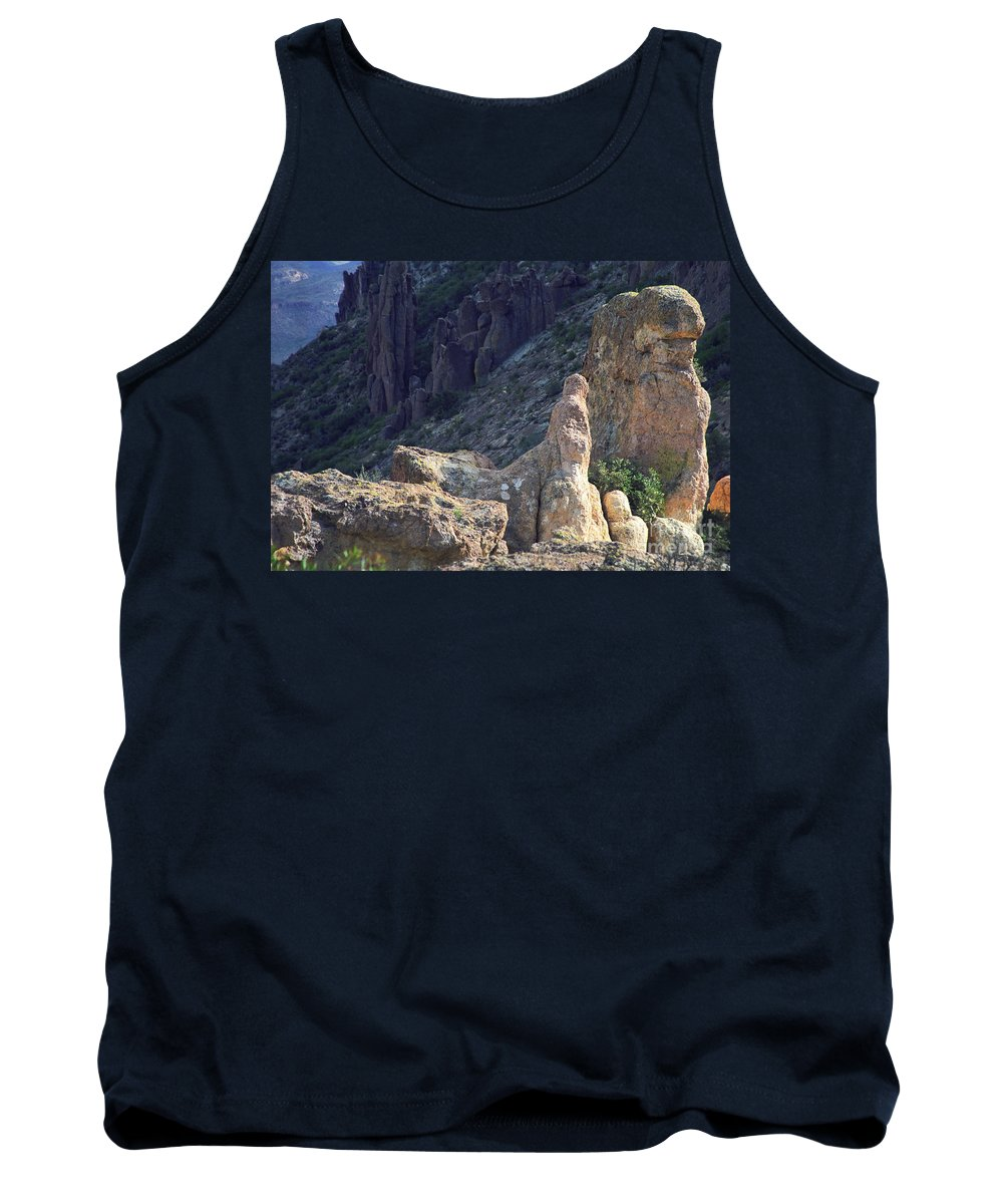Rock Formations Tank Top featuring the photograph A Hard Ride by Kathy McClure