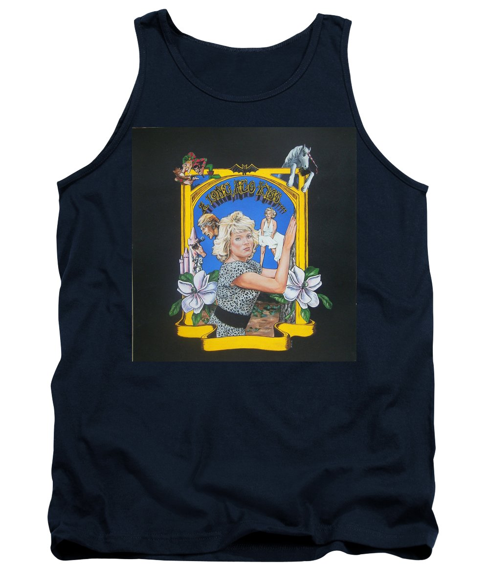 Unicorn Tank Top featuring the painting A Long Ago Kiss by Bryan Bustard