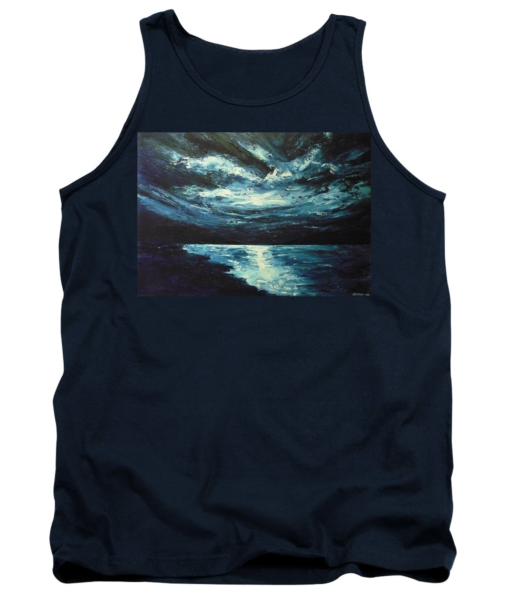 Landscape Tank Top featuring the painting A Milky Way by Ericka Herazo