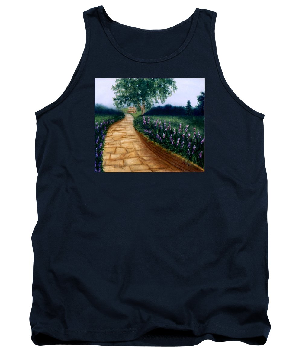 Landscape Tank Top featuring the painting A Quiet Place by Melissa Joyfully