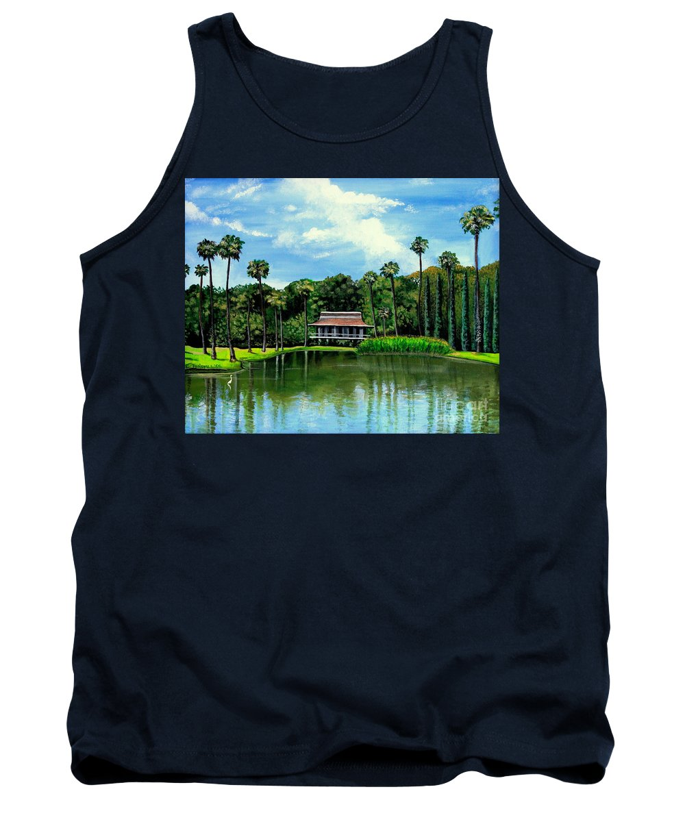 Landscape Tank Top featuring the painting A Slice Of Paradise by Elizabeth Robinette Tyndall