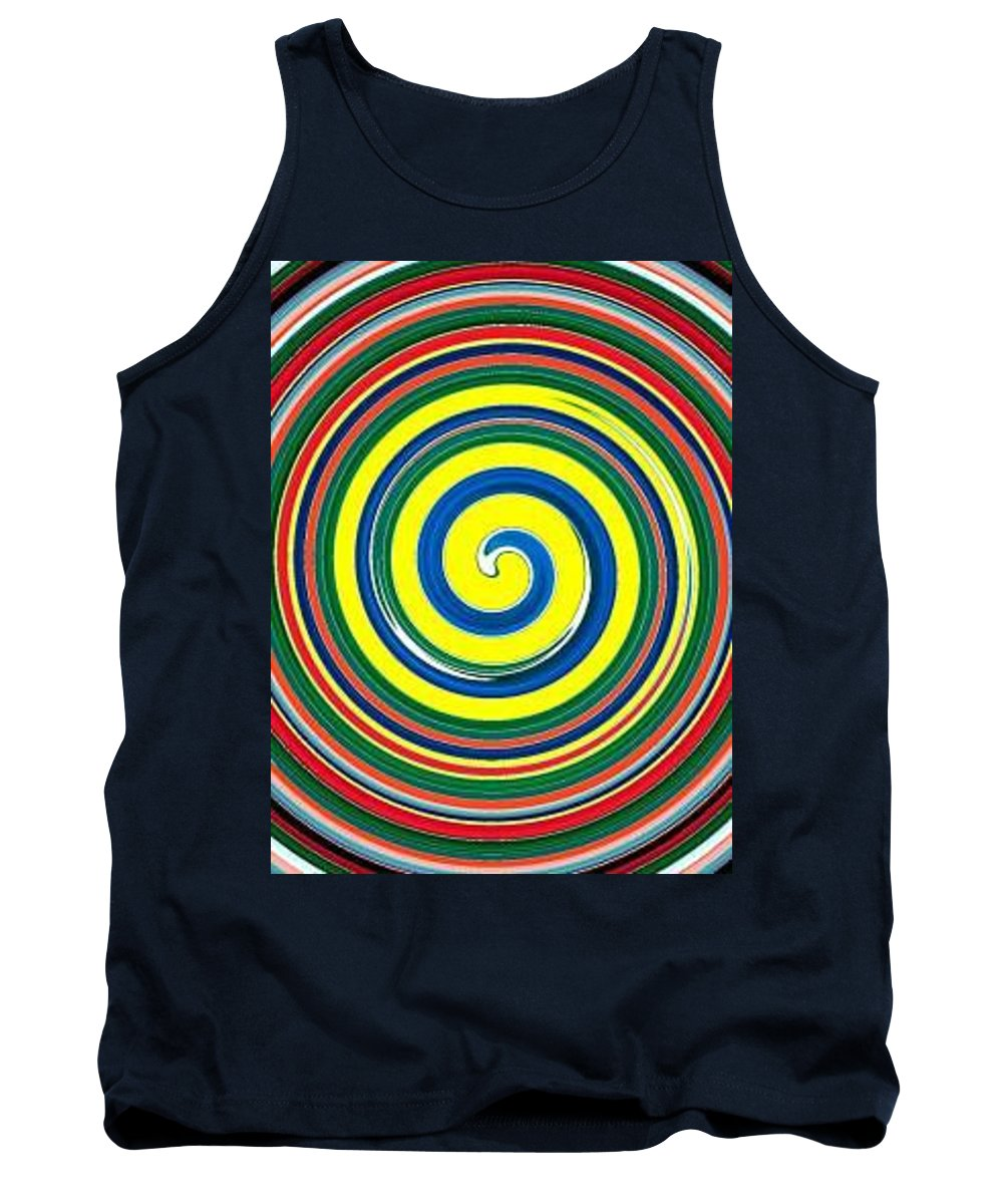 Digital Spiral Tank Top featuring the painting Abb1 by Andrew Johnson