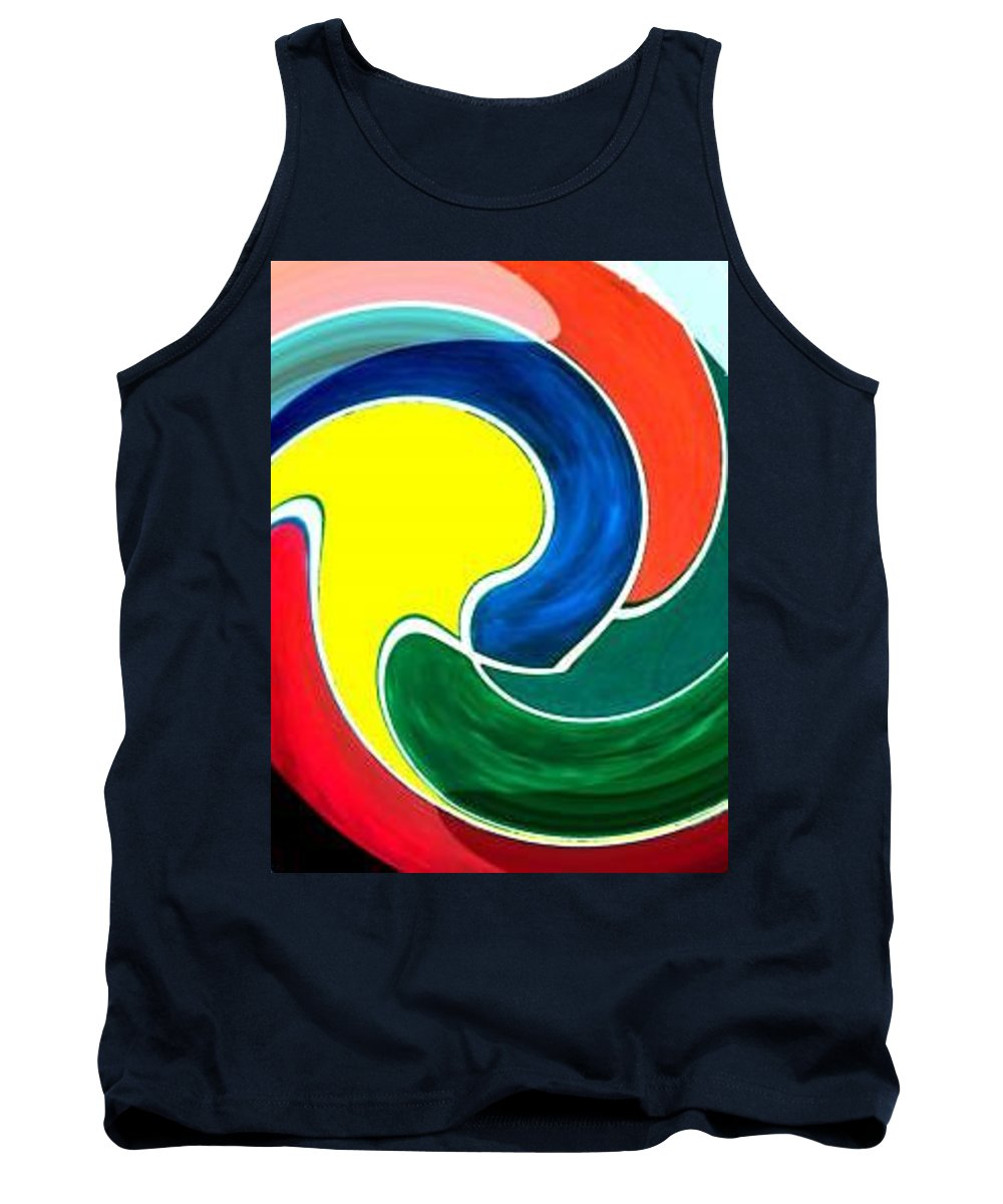 Digitalized Tank Top featuring the digital art Abbs by Andrew Johnson