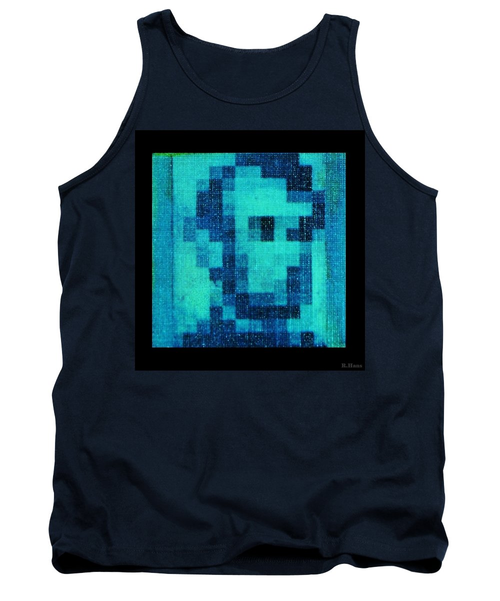 Blue Tank Top featuring the photograph Abe In Aqua by Rob Hans