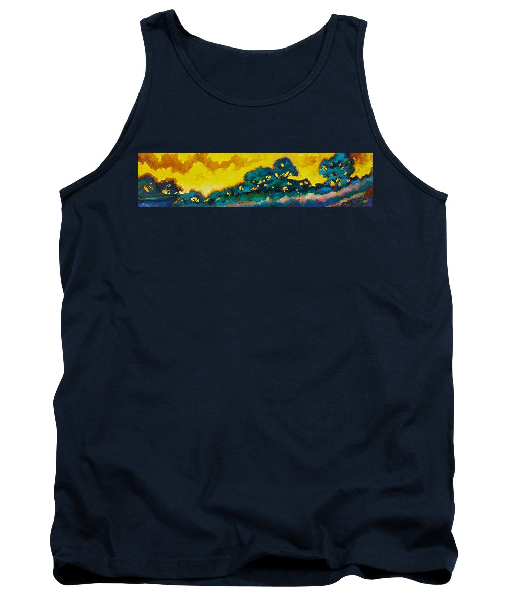 Abstract Tank Top featuring the painting Abstract 01 by Richard T Pranke