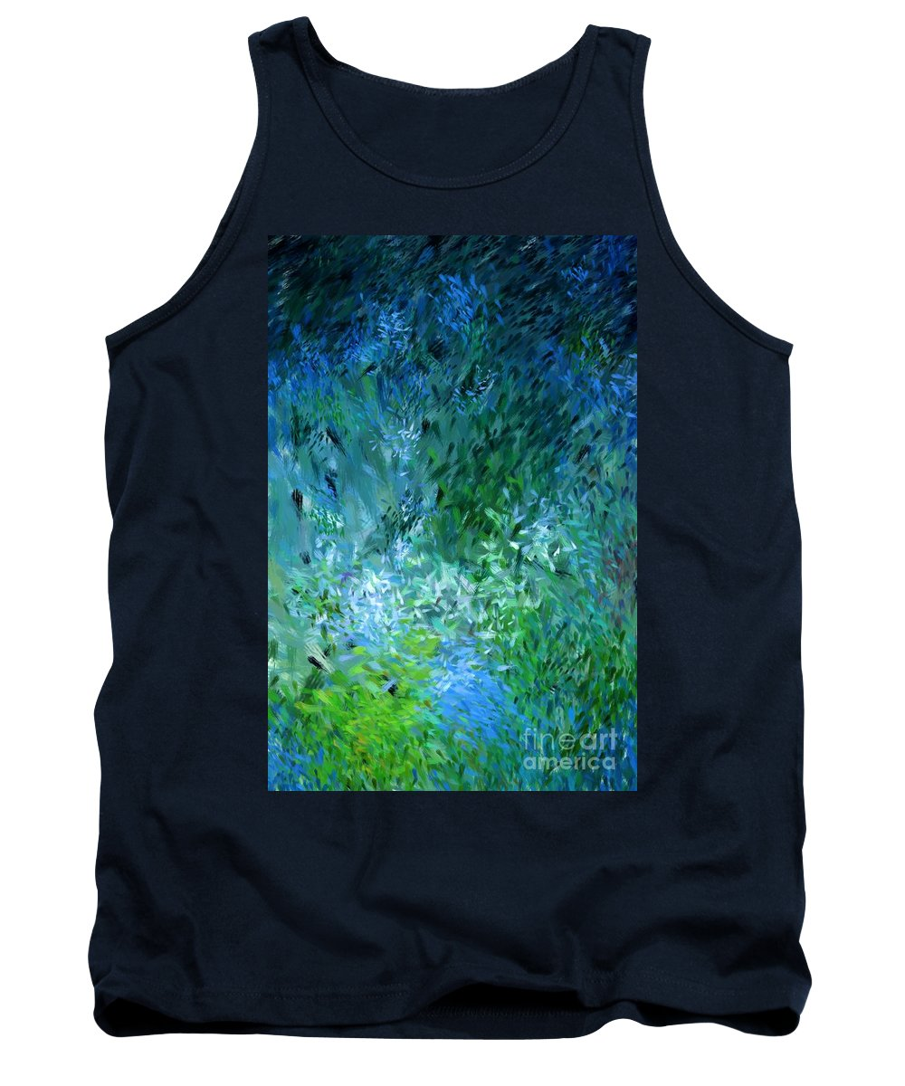 Abstract Tank Top featuring the digital art Abstract 05-25-09 by David Lane