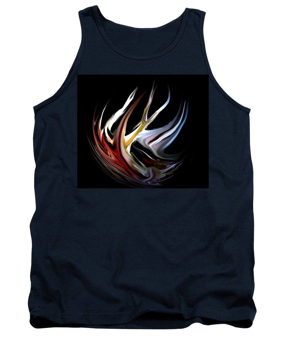 Abstract Tank Top featuring the digital art Abstract 07-26-09-c by David Lane