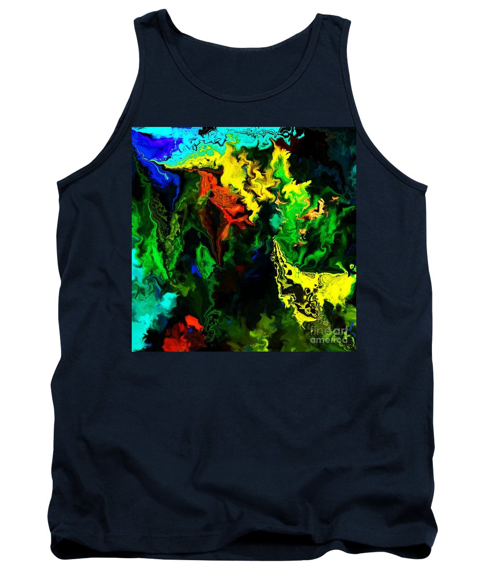 Abstract Tank Top featuring the digital art Abstract 2-23-09 by David Lane