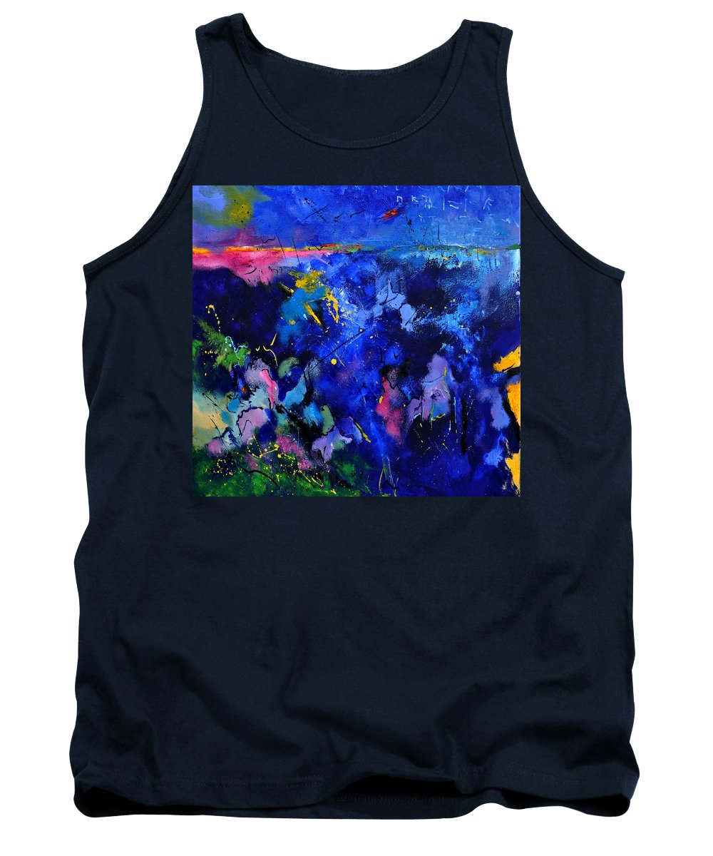 Abstract Tank Top featuring the painting Abstract 8801602 by Pol Ledent