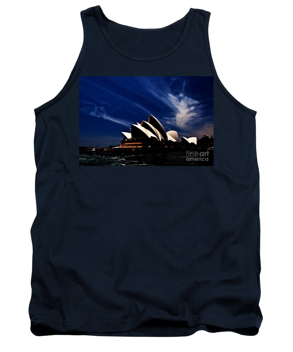 Sydney Opera House Tank Top featuring the photograph Abstract Of Sydney Opera House by Sheila Smart Fine Art Photography