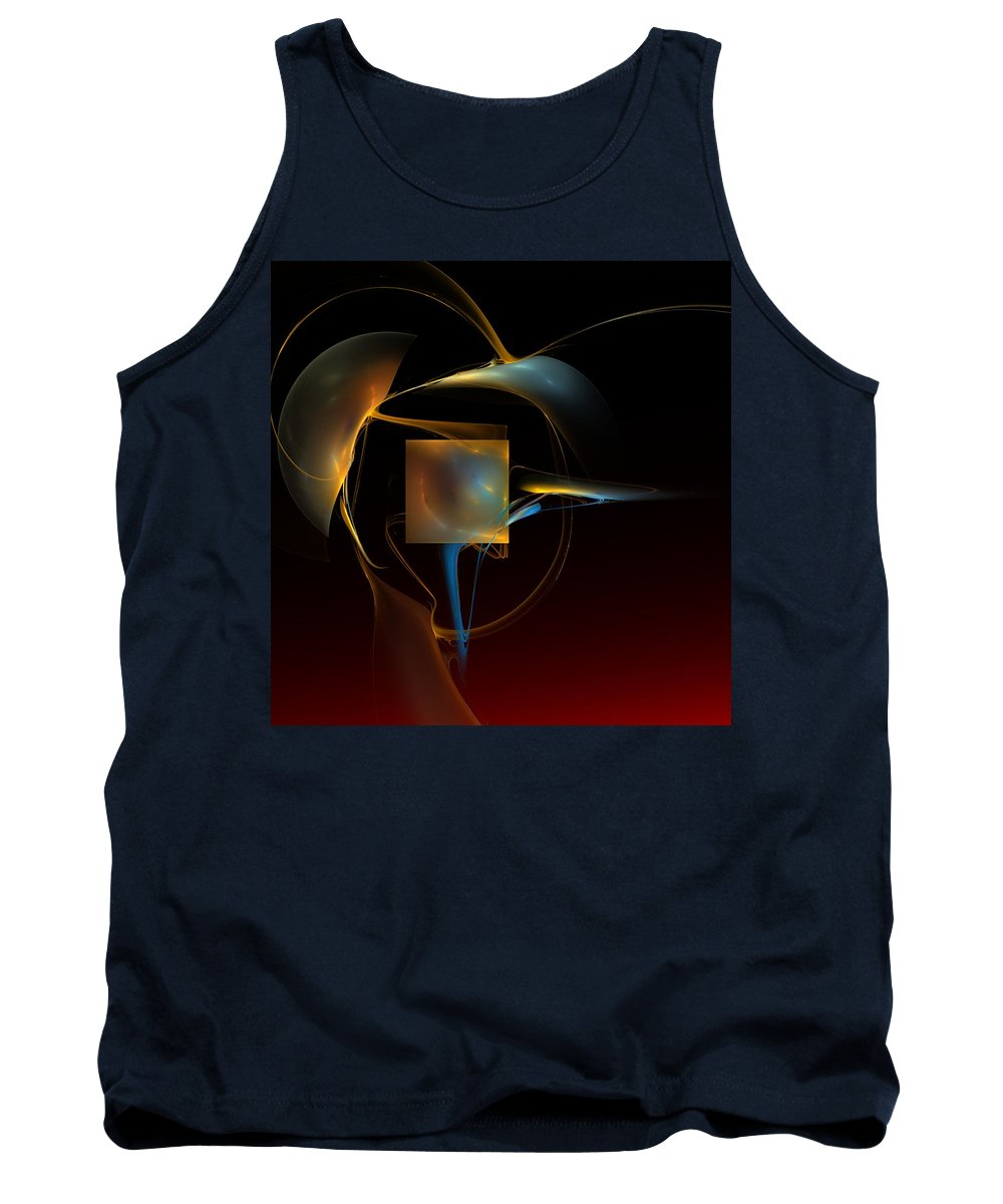 Abstract Tank Top featuring the digital art Abstract Still Life 012211 by David Lane