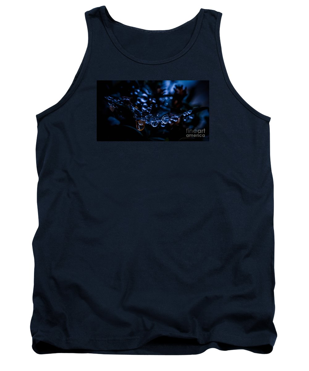 Macro Tank Top featuring the photograph After The Rain II by Laschon Johannes