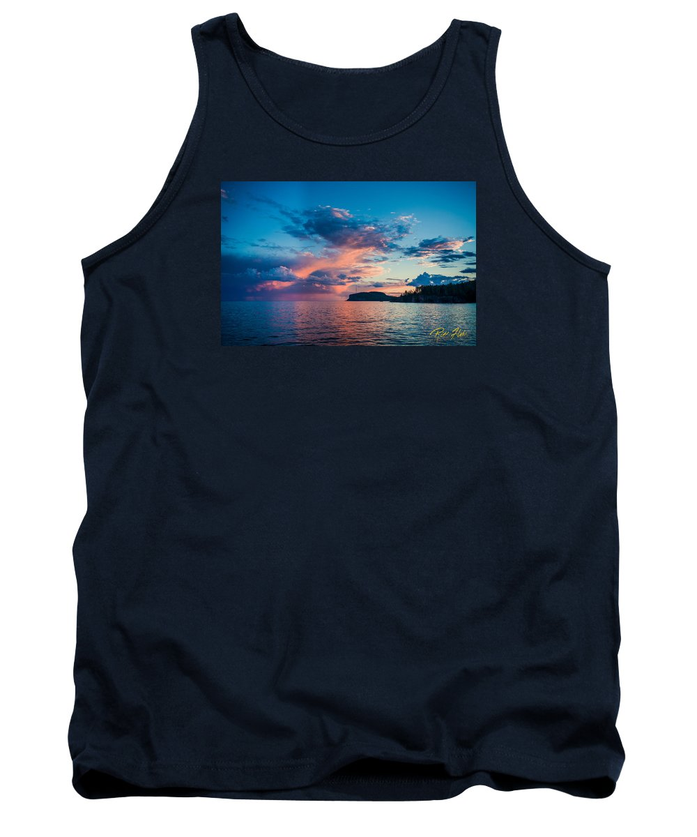 Minnesota Tank Top featuring the photograph Afterglow On The Lakeshore by Rikk Flohr