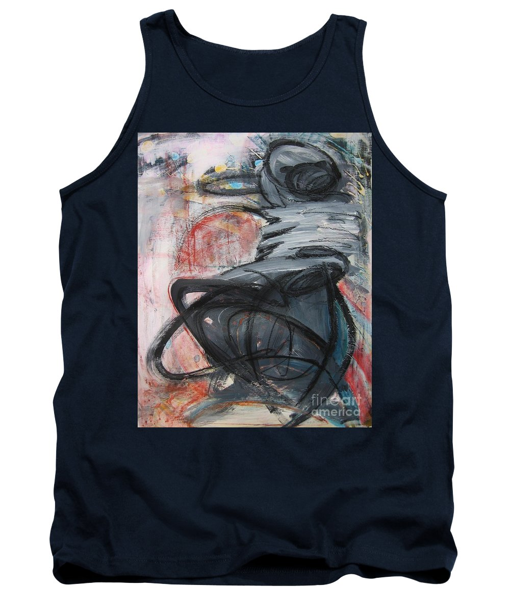 Abstract Paintings Paintings Tank Top featuring the painting All Alone by Seon-Jeong Kim