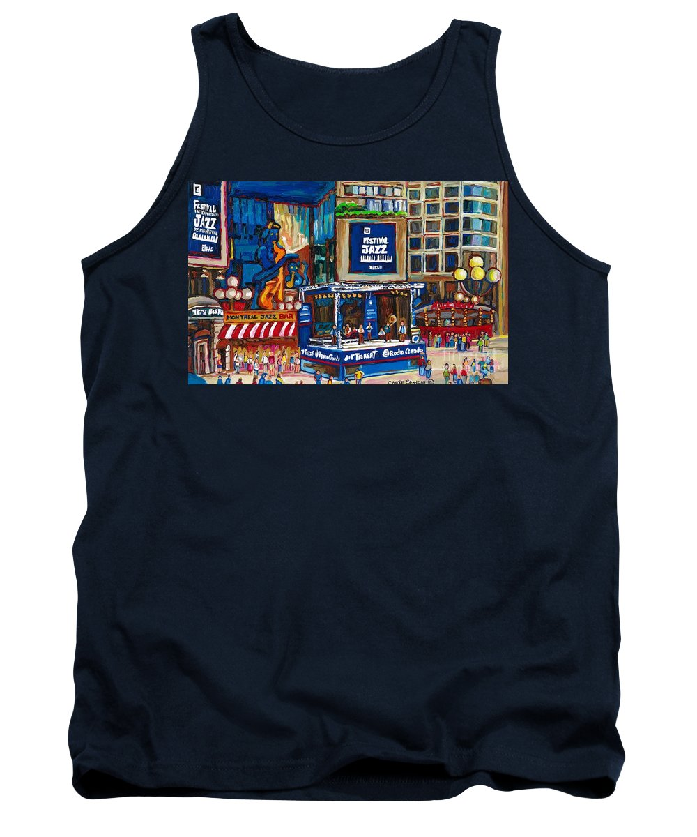 Montreal Tank Top featuring the painting All That Jazz by Carole Spandau