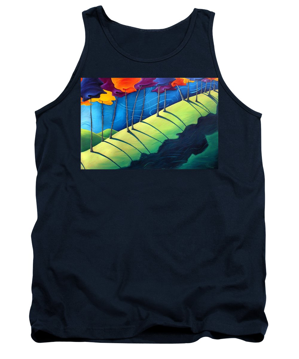Landscape Tank Top featuring the painting All The Same In The End by Richard Hoedl