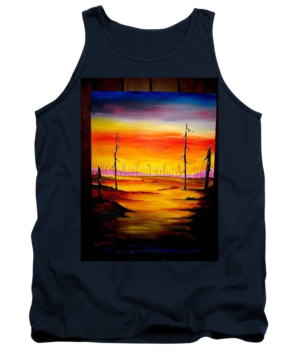 Landscape Tank Top featuring the painting Alone by Glory Fraulein Wolfe