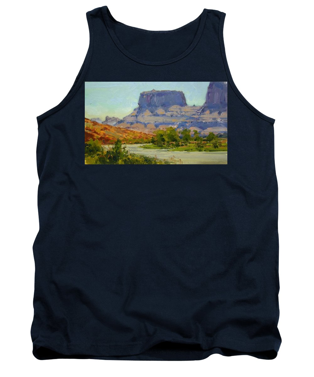 Fineart Tank Top featuring the painting Along The Colorado River by Spike Ress