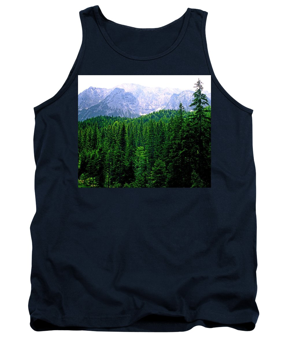 Bavaria Tank Top featuring the photograph Alpine Forest by Kevin Smith