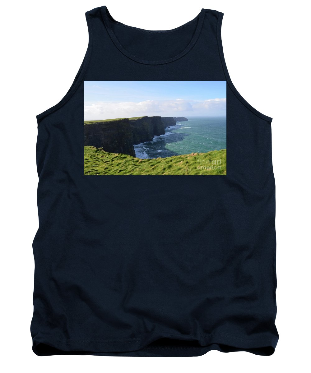 Cliffs-of-moher Tank Top featuring the photograph Amazing Scenic Views Of The Cliff's Of Moher by DejaVu Designs