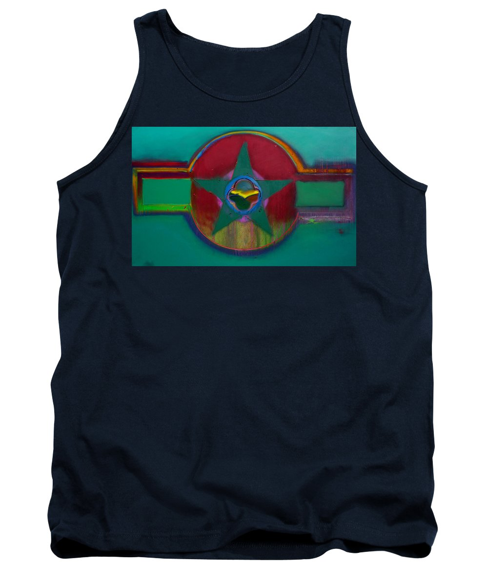 Landscape Tank Top featuring the painting American Army Landscape by Charles Stuart
