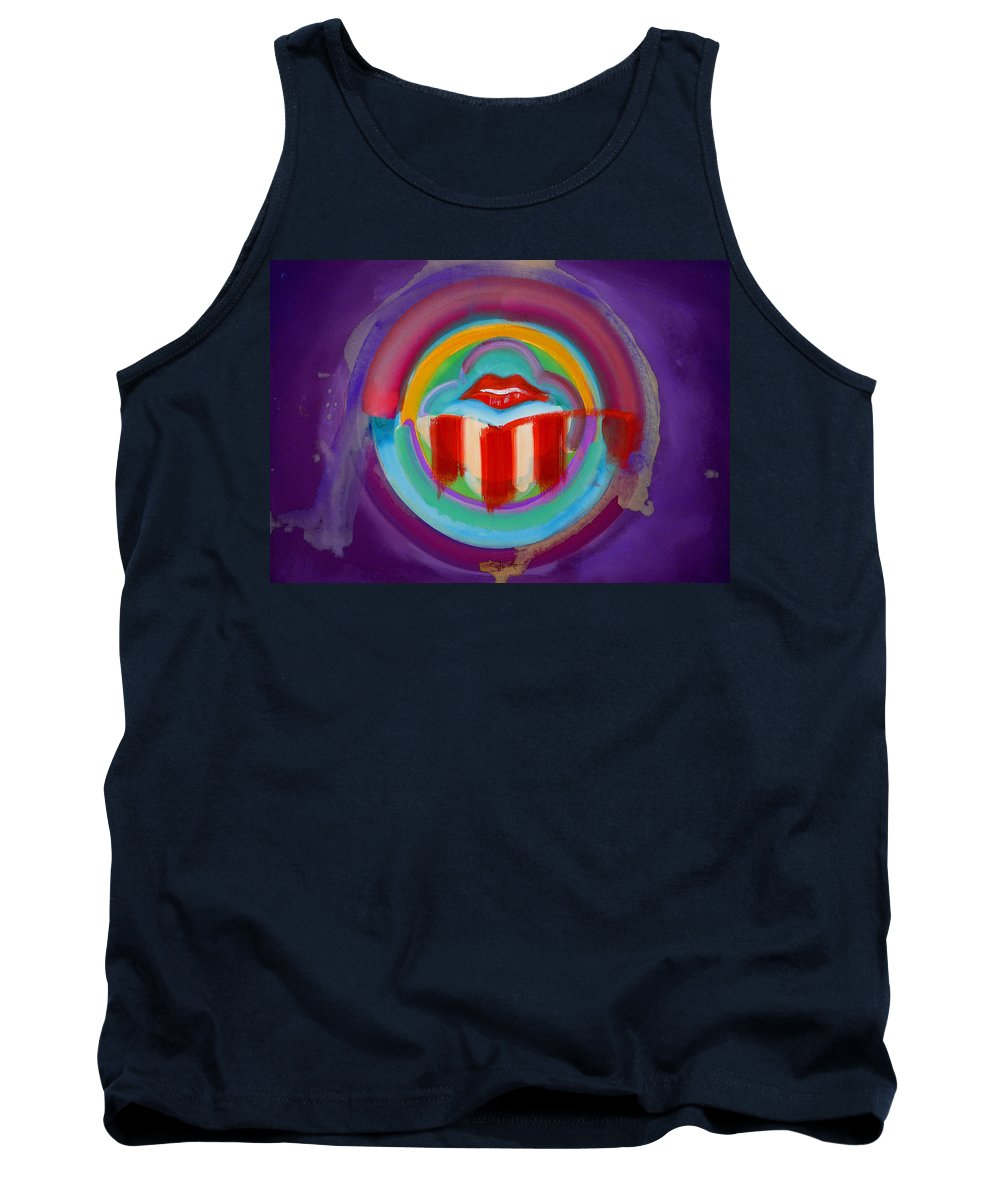 Button Tank Top featuring the painting American Kiss by Charles Stuart
