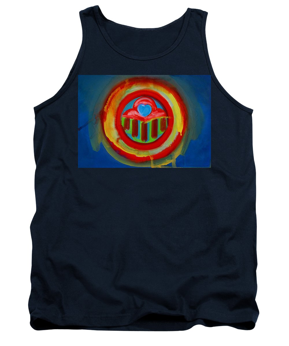 Button Tank Top featuring the painting American Love Button by Charles Stuart
