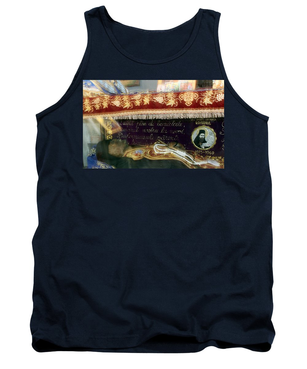 Orthodox Tank Top featuring the photograph An Orthodox Monk by Munir Alawi