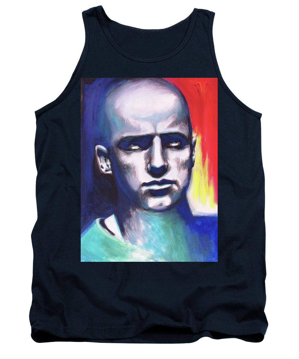 Figures Tank Top featuring the painting Angry Young Man by Susi Franco