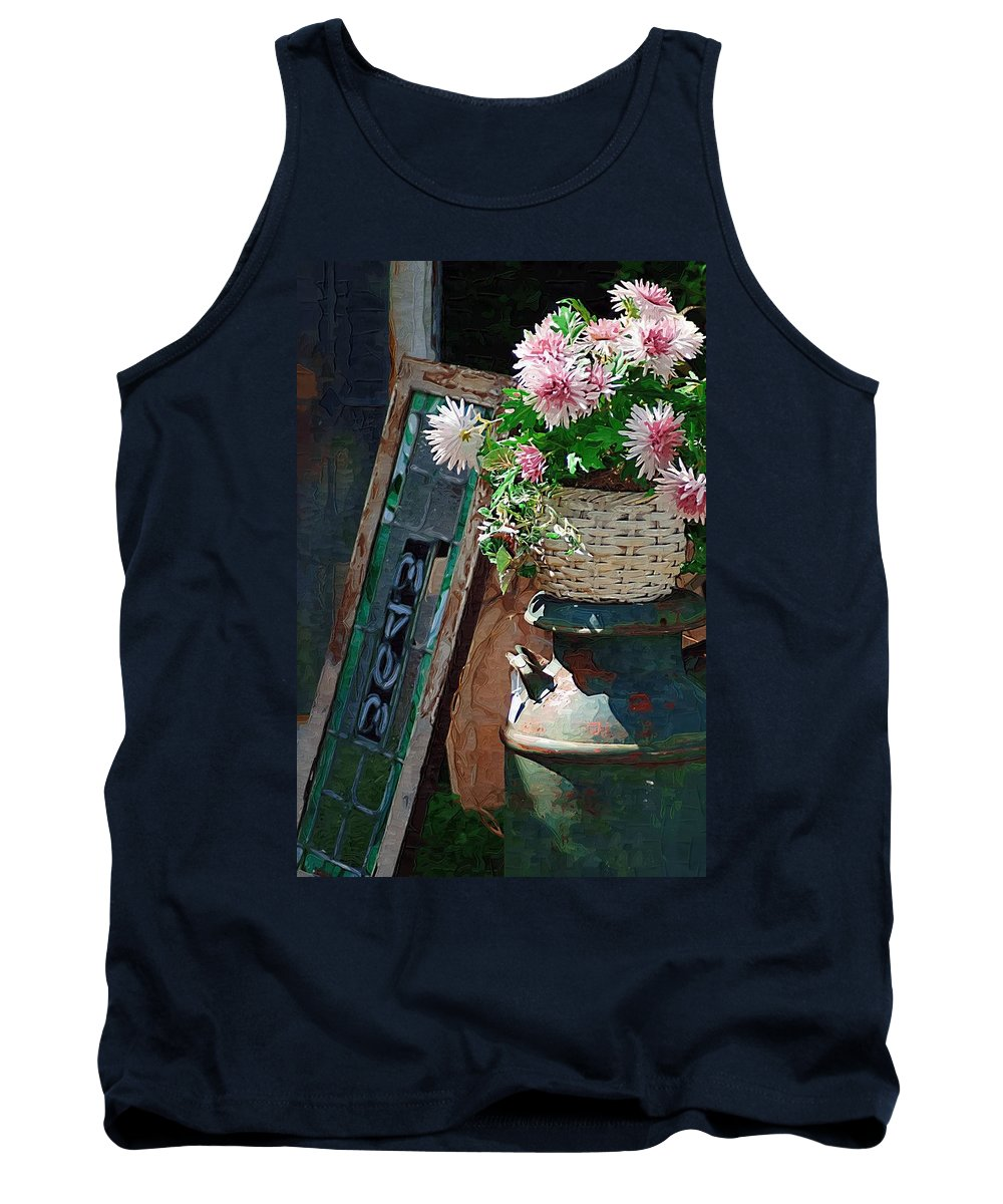 Antiques Tank Top featuring the photograph Antiques by Donna Bentley