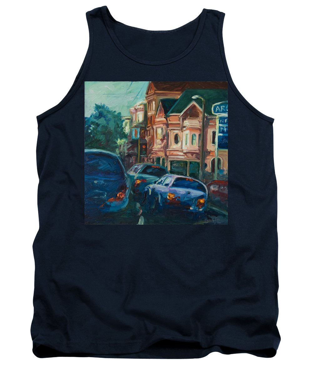 Trees Tank Top featuring the painting Arco by Rick Nederlof