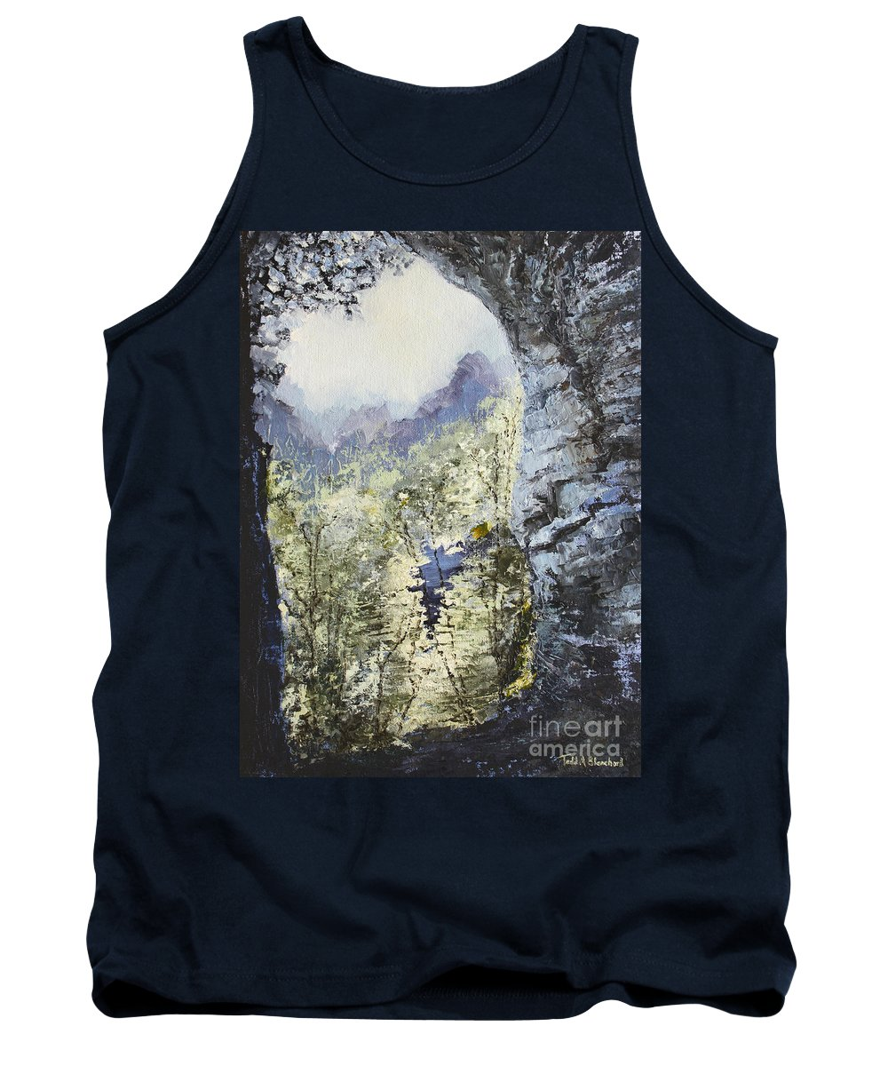 Landscape Tank Top featuring the painting Around The Bend by Todd Blanchard