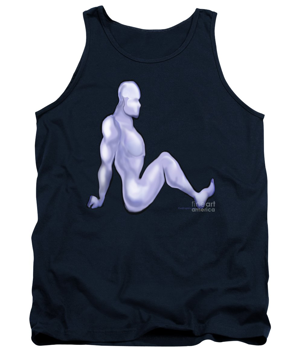 Mudflap Tank Top featuring the digital art Mud Flap Dude by Kevin Middleton