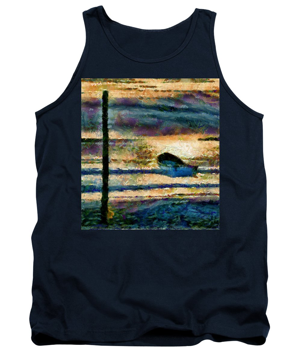 Boat Tank Top featuring the photograph At The End Of Working Day by Galeria Trompiz