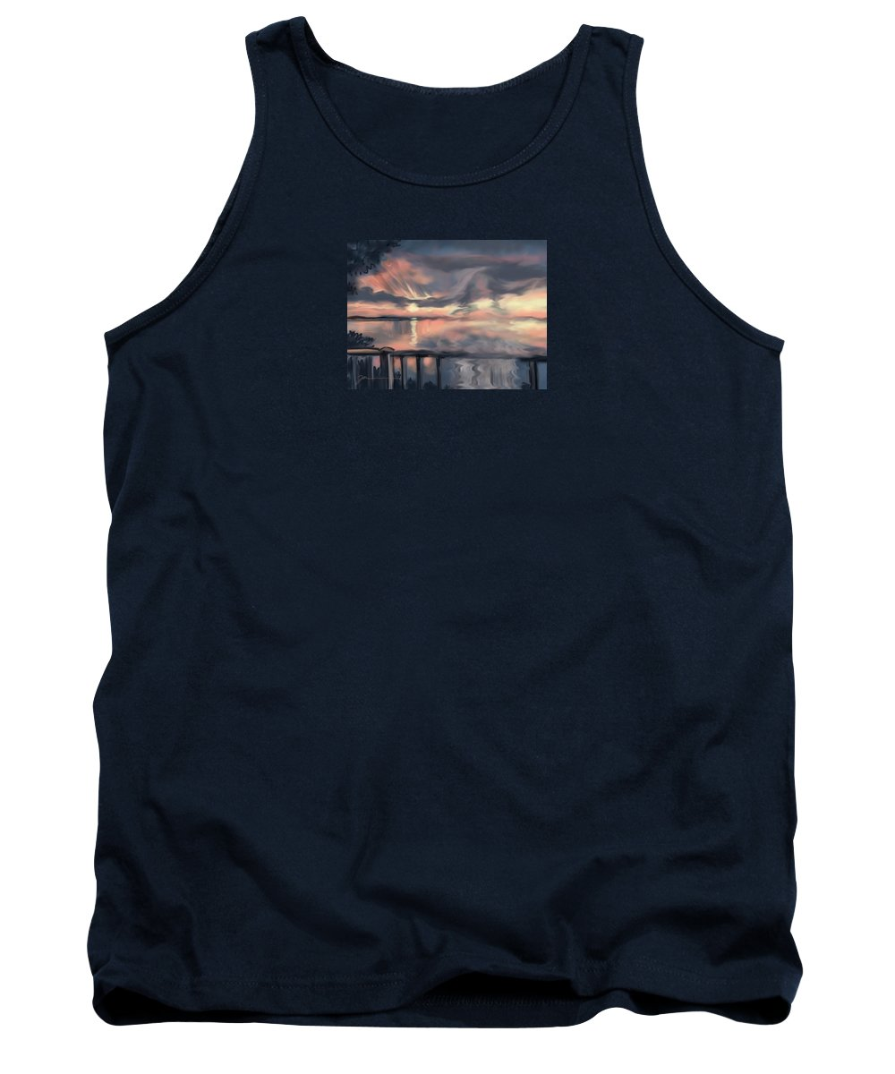 Plymouth Tank Top featuring the painting Aunt Jo by Jean Pacheco Ravinski