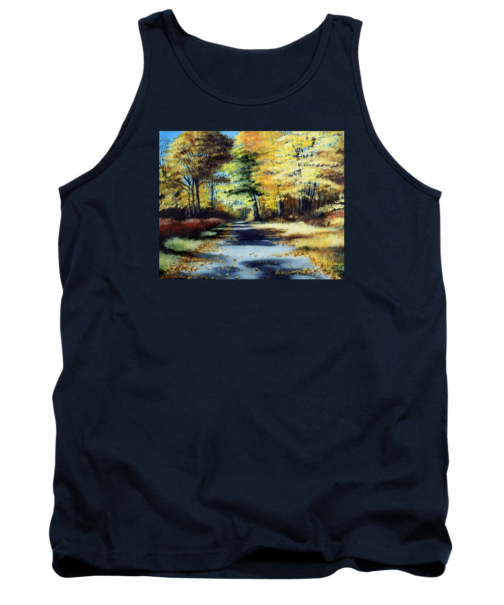 Landscape Tank Top featuring the painting Autumn Colors by Paul Walsh