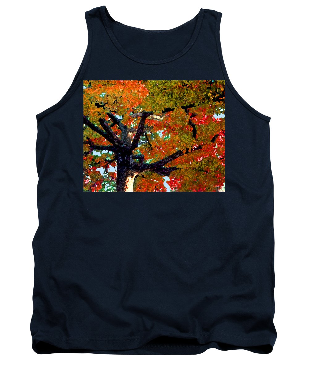 Fall Tank Top featuring the photograph Autumn Tree by Steve Karol