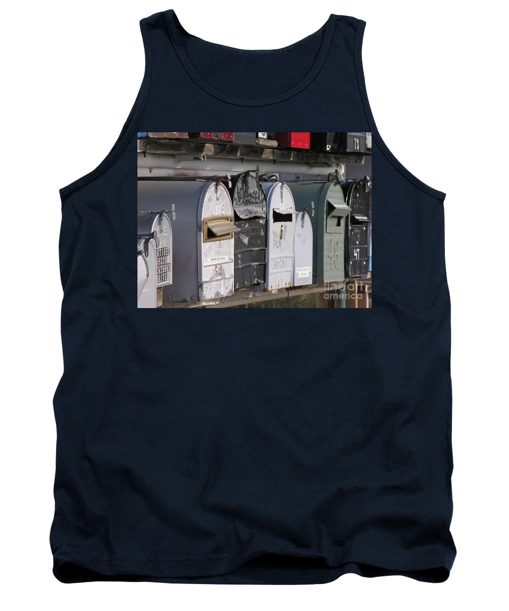 Mail Boxes Tank Top featuring the photograph Awaiting Mail Also by Diane Greco-Lesser