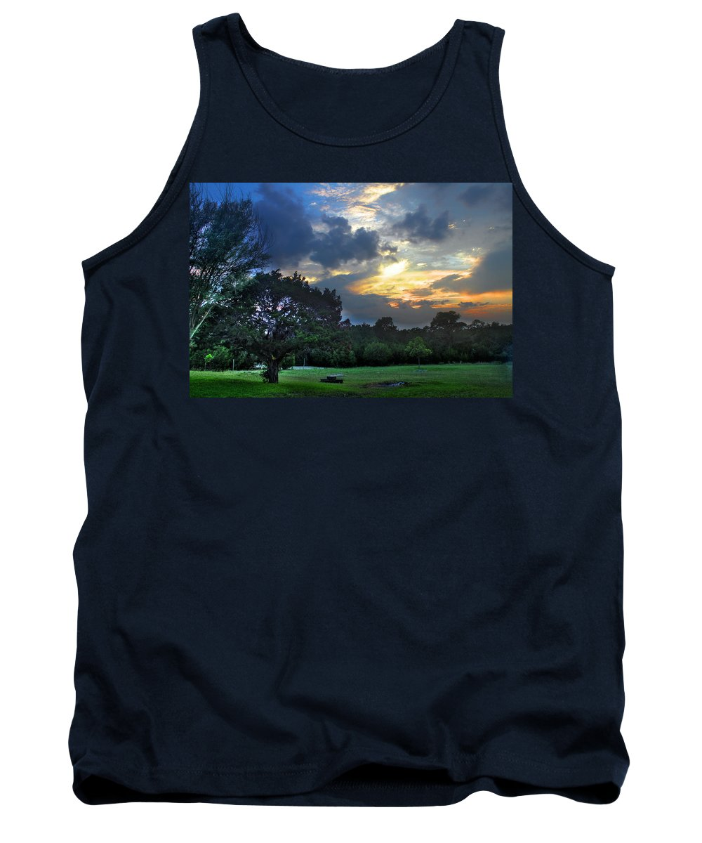 Sun Tank Top featuring the photograph Backyard by Francisco Colon