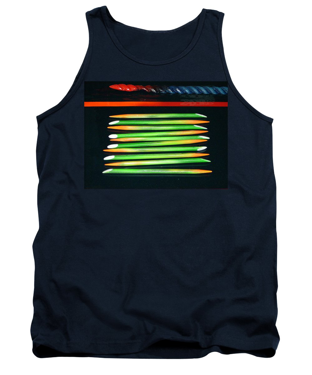 Home Decor Tank Top featuring the mixed media Bamboo Decor by Armand Elgrissy