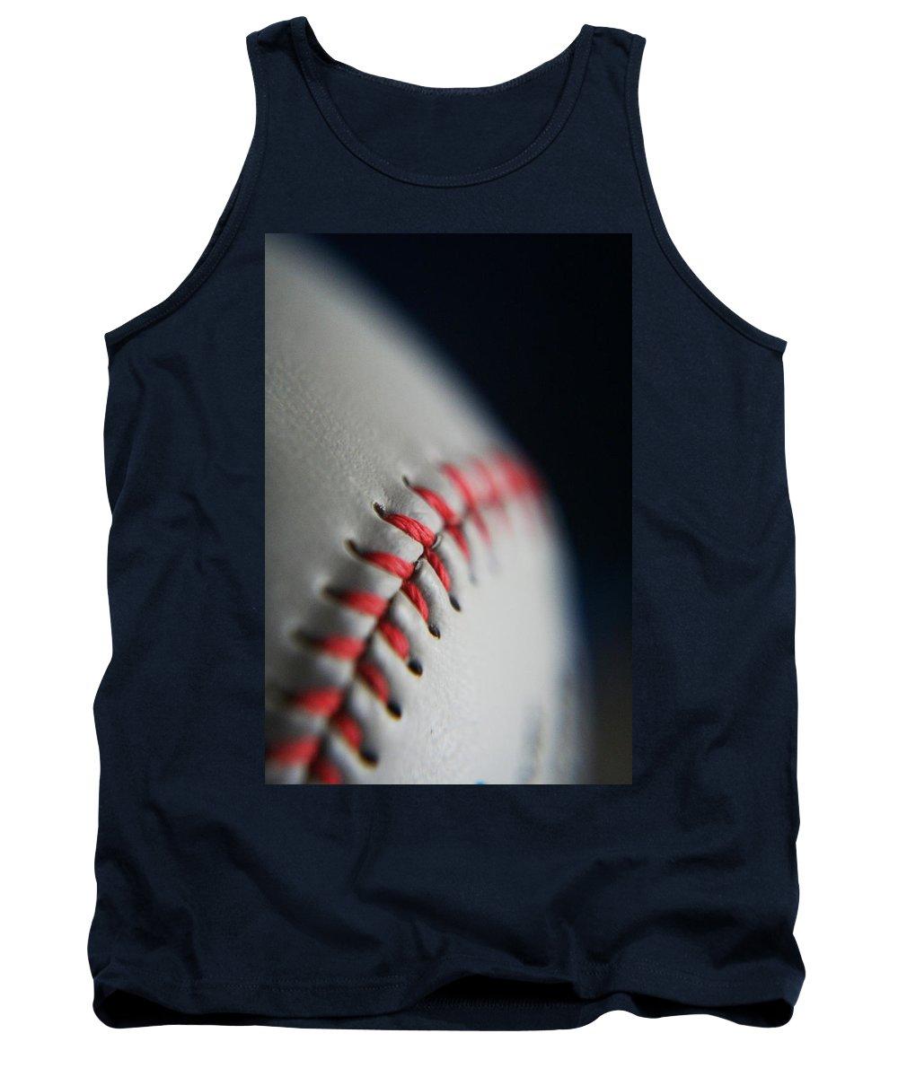 Photograph Tank Top featuring the photograph Baseball Fan by Rachelle Johnston