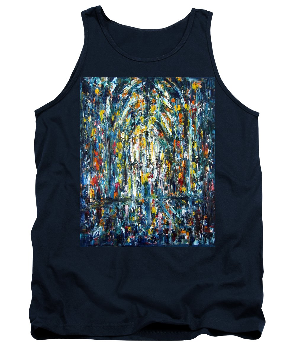 Fine Arts Tank Top featuring the painting Basilica 2 by Pierre Elliott Matte