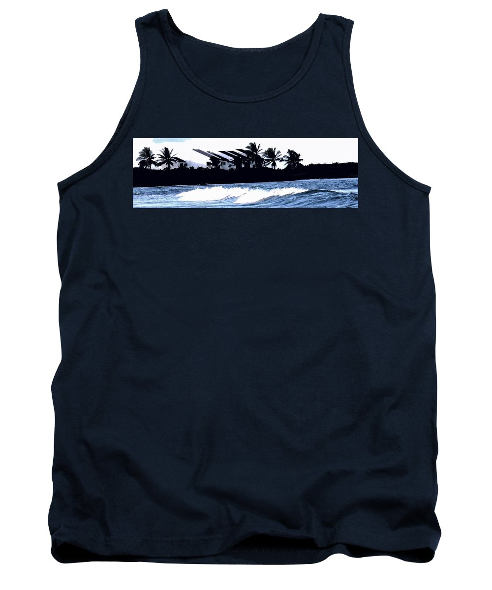 Beach Tank Top featuring the photograph Beach Silhouette by Ian MacDonald