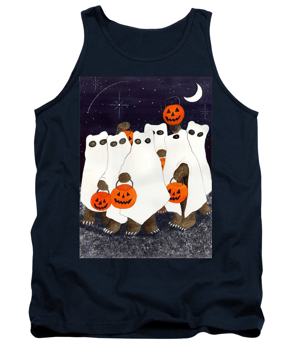 Halloween Tank Top featuring the painting Bear's Freebie Night by Catherine G McElroy