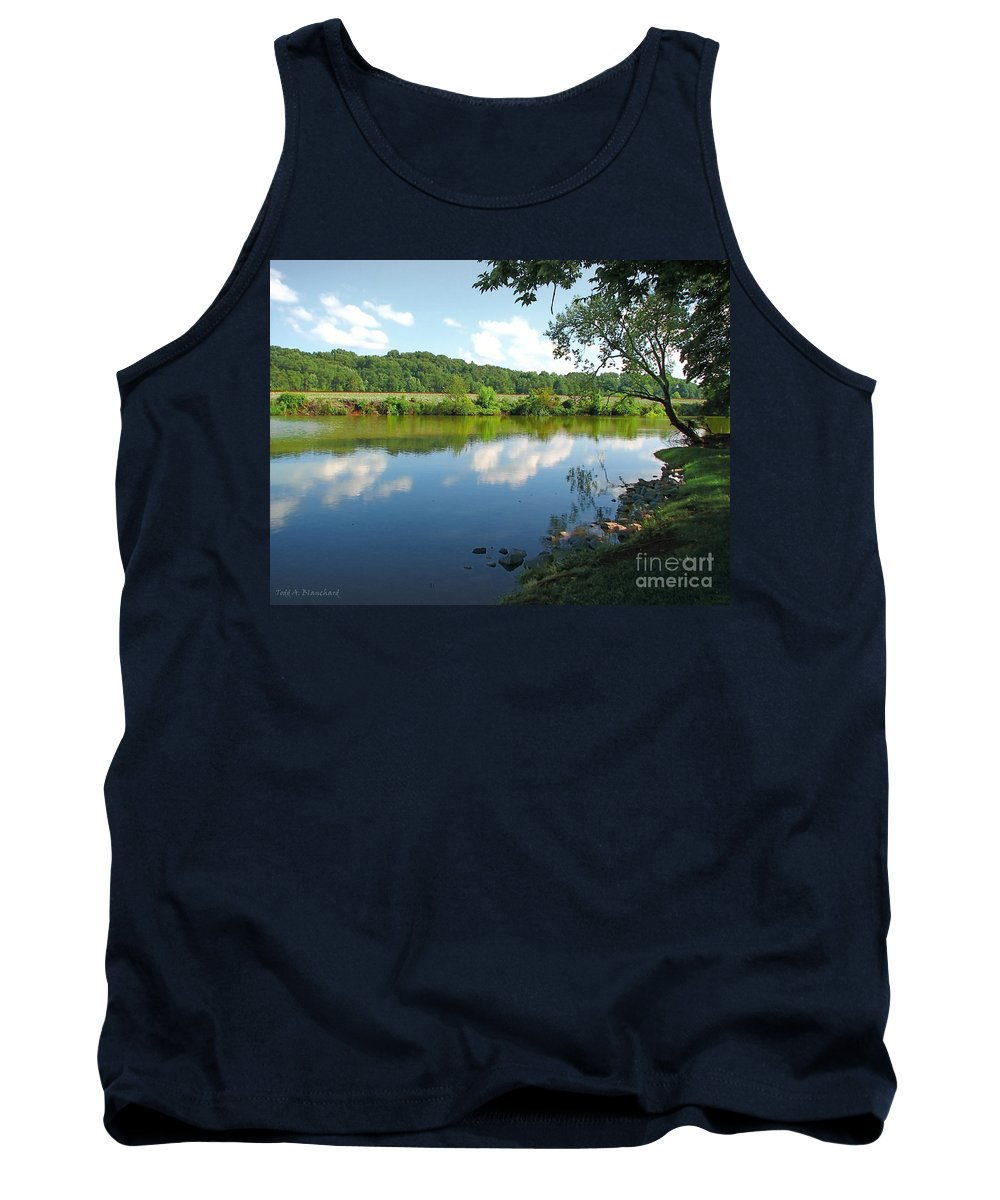Landscape Tank Top featuring the photograph Beautiful Blue Water by Todd Blanchard